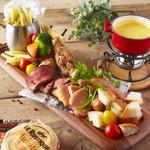 メリメロチーズフォンデュ◆メリメロとはごちゃまぜという意味!肉・野菜・パンとボリューム満点!