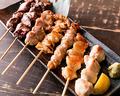 料理メニュー写真炭火串焼き五種盛り合わせ