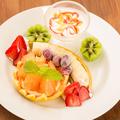 料理メニュー写真はちみつとヨーグルトのフルーツフォンデュ