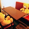グループで来ても安心のテーブル席は数多くご用意♪人数に合わせてテーブルをくっ付けることもできます。