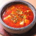 料理メニュー写真激辛石焼鍋麻婆豆腐