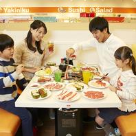 ご家族でのお食事から、100名前後の宴会もOK!