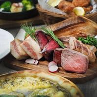 本格肉料理を味わえる肉宴会コースもご用意!
