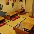 和室は団体様のご宴会に。