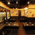 【大阪大衆鉄板焼酒場 てっちゃん】は貸切で最大40名までOK♪大人数のご宴会や同僚とのサク飲み!ご家族でお集まりの際のお食事にもご利用いただけます。