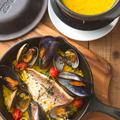 料理メニュー写真●旬の鮮魚のスチームパエリア ~a la frenchna~