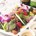 料理メニュー写真季節野菜のバーニャカウダー ~自家製オリーブ&ガーリックソースで~