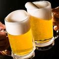 飲み放題は生ビールもOK!生ビールの他にもカクテル・ハイボール・サワー・日本酒・焼酎など豊富に揃えております!女性も飲みやすいお酒も多数ご用意しておりますので、様々なお客様・シーンにご利用いただけます。ご予約お待ちしております。