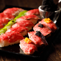 『SNS映え キャビア乗せ!肉寿司食べ放題』90分 1980円