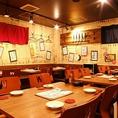 ◆貸切でのご宴会大歓迎◆25名様から貸切でのご宴会承ります!広々としたテーブル席で、歓迎会・送別会などの各種ご宴会をお楽しみください。ご宴会に最適な飲み放題付きコースは3500円からご用意!大鳥居でのご宴会は渡美にお任せください。(写真は系列店です。詳細は店舗までお問い合わせください。)