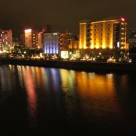 【夜景ダイニング】春吉リバーサイド沿いから眺める夜景