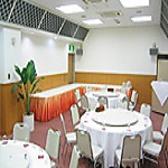 【要予約】 ホテル2階 宴会場 会場費無料!写真は、20~36名名様までご利用いただける着席型の形式です。
