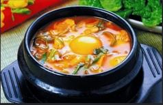 純豆腐(スンドゥプ)チゲ定食