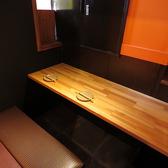 個室、カウンター、ソファー席あり