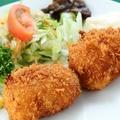 料理メニュー写真蟹の海老巻きコロッケ