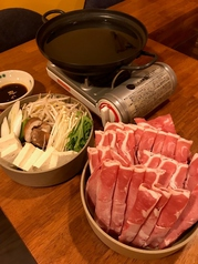 人気!【常連さんおすすめメニュー】ぜいたく3品2セット+ミニ野菜盛り+しゃぶしゃぶ鍋