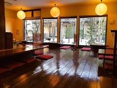 4名様用の座敷が7卓ございます。ご家族のお祝いや会社様の忘年会等各種ご宴会に最適です。