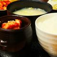 ランチ定食は全てライス・キムチ・サラダ・スープ付です!
