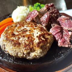 赤身ステーキ(100g)+生ハンバーグ