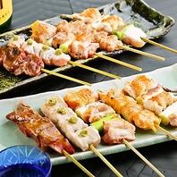 秋田県産比内地鶏の串役は絶品。日本酒との相性も抜群!