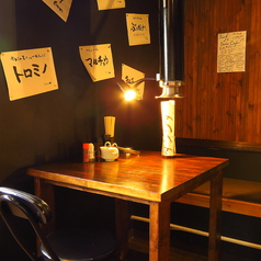 2名様掛けのテーブル席も1卓ご用意!