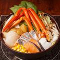 料理メニュー写真鮭とイクラの北海漁師風 石狩鍋