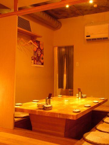 コチラは個室のお席です。空気清浄機付き◎
