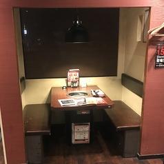 仕切りのある個室風お席もご用意しております!