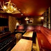 シックな空間は大人飲み会や、気の合うお仲間内での飲み会、パーティに。