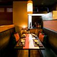 上質な和の空間はまさにおもてなしの心を実現。当店自慢の料理と上質な空間で優雅な一時をお過ごしください。ソファータイプのお席は座り心地も抜群です!