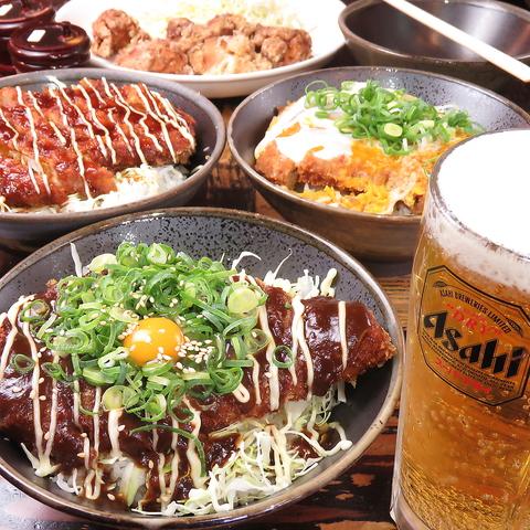 ビール&かつ丼セット1250円(税込)