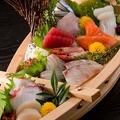 料理メニュー写真数量限定!≪舟盛り≫豪華刺身十点盛り