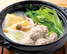 鶏団子と水菜の鍋