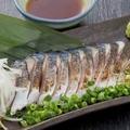 料理メニュー写真脂のった炙り〆鯖