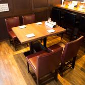 2名様~4名様までご利用できるテーブル席です!木に囲まれた落ち着いた雰囲気のお席です!デートや飲み会に最適です!雰囲気のいい店内でゆったりとお食事をお愉しみいただけます◎ひばりヶ丘で居酒屋をお探しなら当店へ!