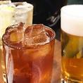 【お酒好きの方必見!】各コース価格+500円で、飲み放題に生ビールや銘柄焼酎などを追加いただけます★ 飲み放題は単品でもご注文いただけますので、二軒目利用やお酒メインのご利用もお気軽にどうぞ♪