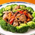 料理メニュー写真ブロッコリーと牛肉炒め