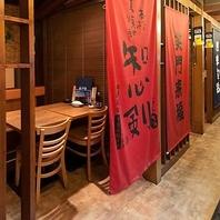 うおや一丁八重洲口店は様々なタイプの個室をご用意!