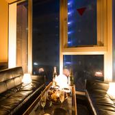 夜景の見えるゆったりソファー席!女子会,合コン,ご友人の誕生日会等に◎ごゆっくりお時間忘れてお寛ぎ下さいませ。。恵比寿★居酒屋★個室★飲み放題
