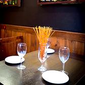テーブル席5池袋 、東口のバルでご宴会、接待 、飲み放題 、ワインを。