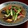 鮮魚の塩焼き 空心菜と魚介の炒め物