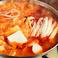 料理メニュー写真熟成キムチチゲ 紅白仕立て  小鍋/大鍋