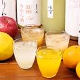 女性に人気の果実酒やよんぱち特製サワー・ハイボールもオススメ♪ポンカンや日向夏、柚子を使用したサワー・ハイボールは当店オススメ!!程よい酸味と香りがクセになります◎