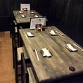【2F/東屋】テーブルをひっつけてのご宴会も可能です。