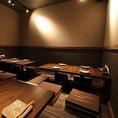 1階掘りごたつ席。ゆったり落ち着いた雰囲気でお食事をお楽しみ頂けます。