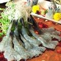 料理メニュー写真天使の海老のしゃぶしゃぶ