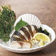 炙り〆鯖刺身