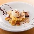 料理メニュー写真チョコレートとバナナのクレープ