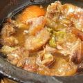 料理メニュー写真モツ煮込み・牛すじの煮込み・鮮魚のカマホイル焼き〈サーモン(数量限定)/ブリのかまホイル〉