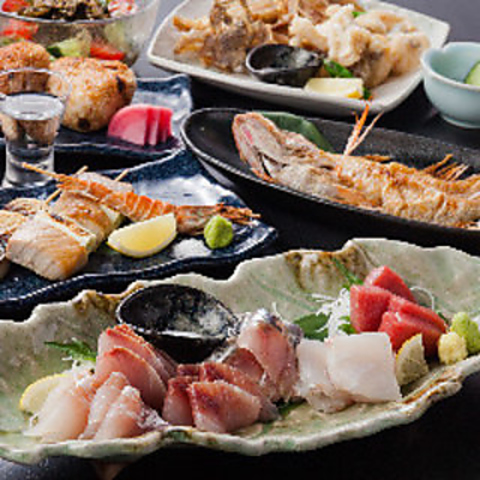 【2H飲み放題】店長オススメ!『紅葉の宴』全8品 6,000円 高級魚『のどぐろ』1尾付き
